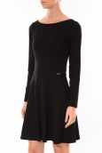 Robe Coquelicot Col V Noir 16201