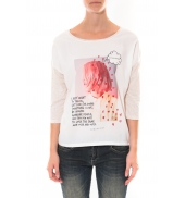Tee shirt Coquelicot  Blanc 16425