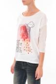 Tee shirt Coquelicot  Blanc 16425