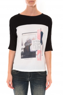Tee shirt Coquelicot  Blanc 16409