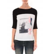 Tee shirt Coquelicot Noir & Blanc 16409