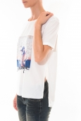 Tee shirt Coquelicot  Blanc 16426