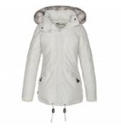PARKA LONGUE CAPUCHE DETACHABLE PLUMES SCHOTT Blanc