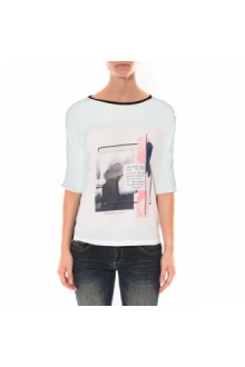 Tee shirt Coquelicot  Blanc 16409