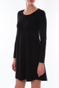 Robe Coquelicot Col Rond Noir 16202