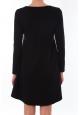 Robe Coquelicot Col Rond Noir 16202