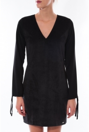 Robe Coquelicot Col V Noir 16211