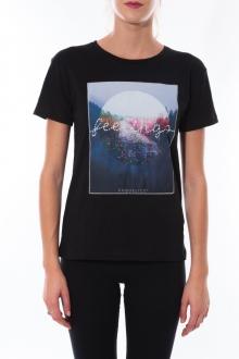 T-shirt Coquelicot Noir 16423