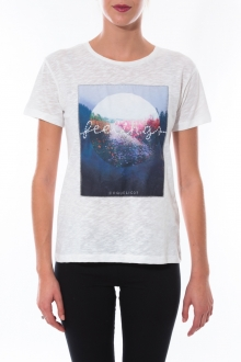 T-shirt Coquelicot Blanc 16423