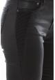 Jean Love Denim Noir couture fantaisie 123P16H-3
