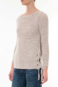 Pull Lacets Beige