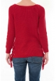 Pull Lacets Rouge
