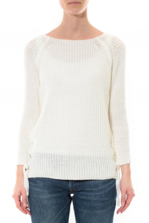 Pull Lacets Blanc