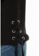 Pull Lacets Noir
