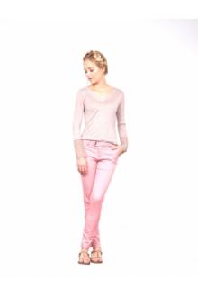 Les Petites bombes Pantalon Chino Vieux Rose S1171301