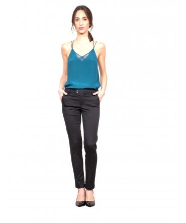 Les Petites bombes Pantalon Chino Noir S1171301