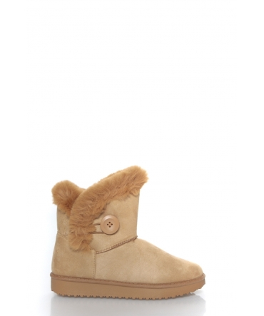 bottines fourrées  Beige MD 2307