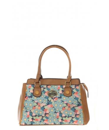 Sac Shopping Lili Petrol Flower MM 42
