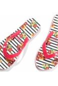 Desigual Tongs Flip Flop Flores & Rayas 74HSED2