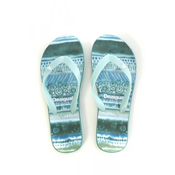 Sandales, nu-pieds Desigual Shoes_Flip Flop Blue Aquarella 74HSEC0