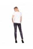 Les Petites bombes Tee Shirt Bi Matiere Mini Clou Ivoire  S174104