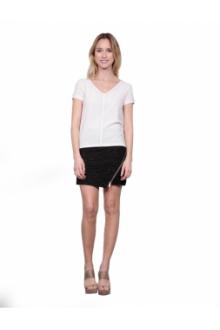 Les Petites bombes Tee Shirt Bi Matiere Mini Clou Calcaire  S174104