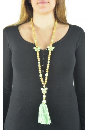Collier sautoir Fashion Jewelry  Vert