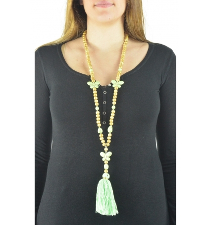 Collier sautoir Fashion Jewelry  Vert