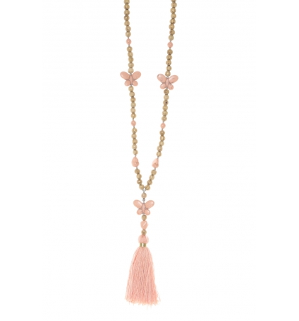 Collier sautoir Fashion Jewelry  Rose