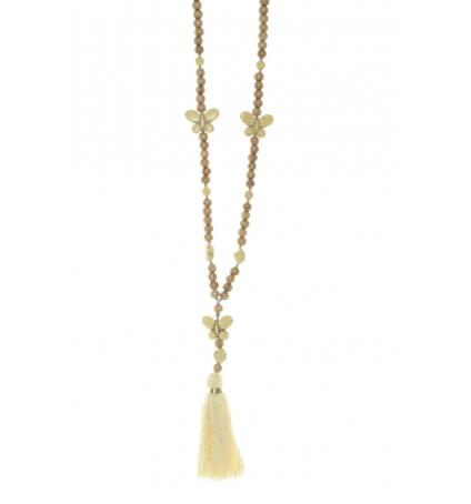 Collier sautoir Fashion Jewelry Jaune