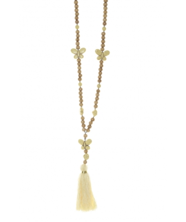 Collier sautoir Fashion Jewelry Jaune