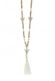 Collier sautoir Fashion Jewelry Blanc