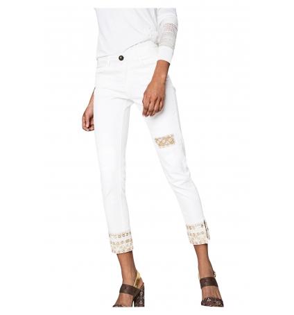 Desigual Jeans Dreams 5  Blanc 72D2WC4