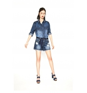 Desigual Short Exotic Blue 73D2JB4