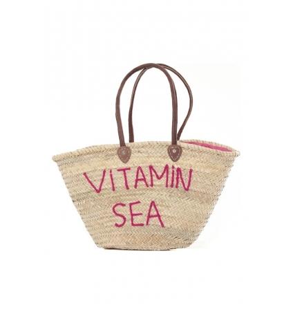 Sac  Paille Vitamin Sea Rose