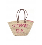 Sac  Paille Vitamin Sea Rose
