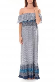 Robe Longue Care  of you  Bleu F50055