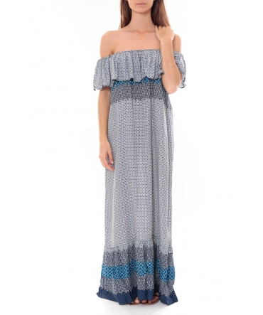 Robe Longue Care  of you  Bleu F50055