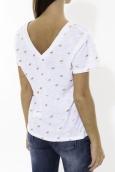 Tee Shirt Zinka Blanc signe Or KT107