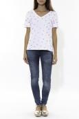 Tee Shirt Zinka Blanc Signe Rose KT107