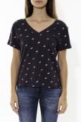 Tee Shirt Zinka Marine signe rose KT107