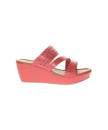 Sandale Compensé  Rouge 78-35