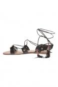 Sandale  Noir attache corde SP7085-NR