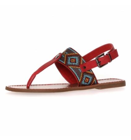 Sandales LPB Shoes Pivoine noir