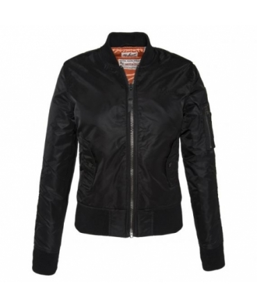 BLOUSON BOMBER MANCHES BRODEES Black