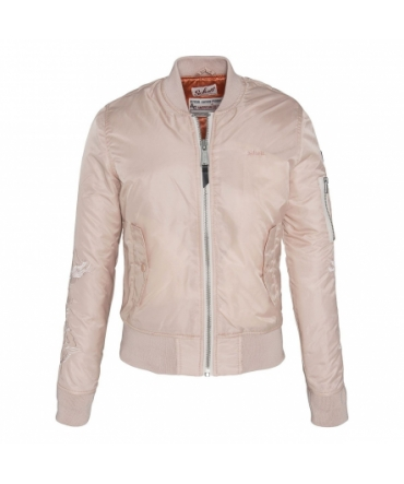 BLOUSON BOMBER MANCHES BRODEES Rose
