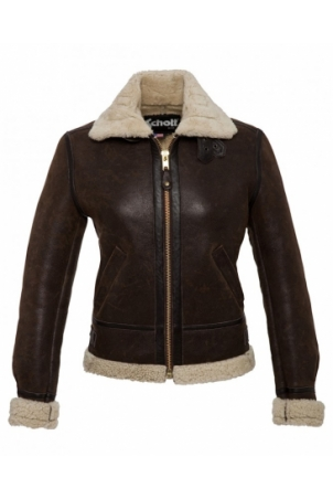 BOMBARDIER FEMME SCHOTT  LIGHT DARK BROWN