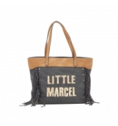 Little Marcel Sac Shopping Victoire Noir VI 01