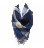 De Fil en Aiguille Écharpe Bleu/Blanc