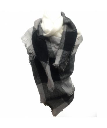 De Fil en Aiguille Écharpe Noir/Blanc